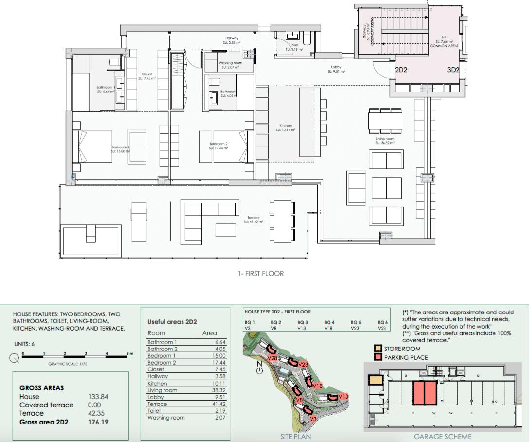 phoenix resort la cala golf kleinschalig luxe exclusief appartement penthouse kopen nieuwbouw modern spa gym concierge omheind grondplan 3 slaapkamer