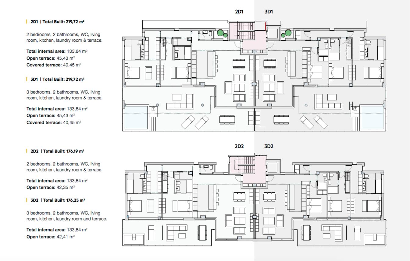 phoenix resort la cala golf kleinschalig luxe exclusief appartement penthouse kopen nieuwbouw modern spa gym concierge omheind grondplan