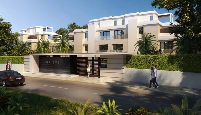 velaya new golden mile estepona marbella eerstelijns zee strand zeezicht exclusief appartement te koop penthouse