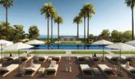 velaya new golden mile estepona marbella eerstelijns zee strand zeezicht exclusief appartement te koop zwembad