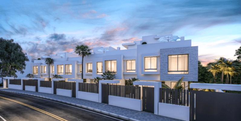 west beach estepona wandelafstand strand zee huis woning nieuwbouw geschakeld modern complex