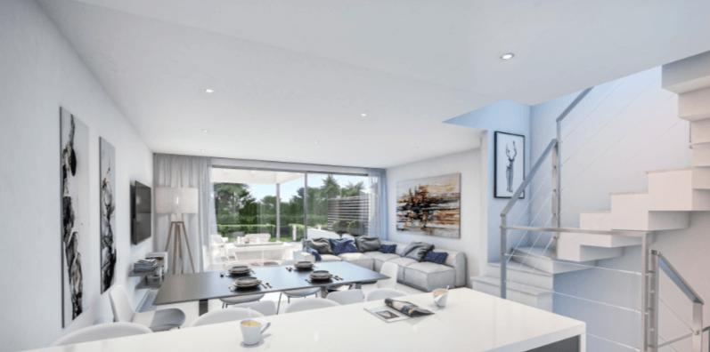 west beach estepona wandelafstand strand zee huis woning nieuwbouw geschakeld modern keuken
