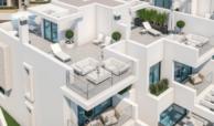 west beach estepona wandelafstand strand zee huis woning nieuwbouw geschakeld modern solarium