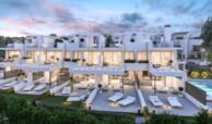 west beach estepona wandelafstand strand zee huis woning nieuwbouw geschakeld modern terras