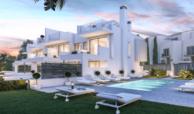 west beach estepona wandelafstand strand zee huis woning nieuwbouw geschakeld modern tuin