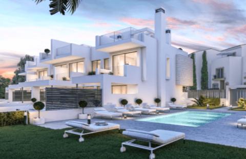 West Beach: boetiek project met 6 huizen op 50 meter van zee (Estepona)