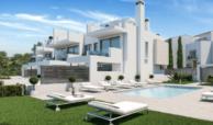 west beach estepona wandelafstand strand zee huis woning nieuwbouw geschakeld modern zwembad