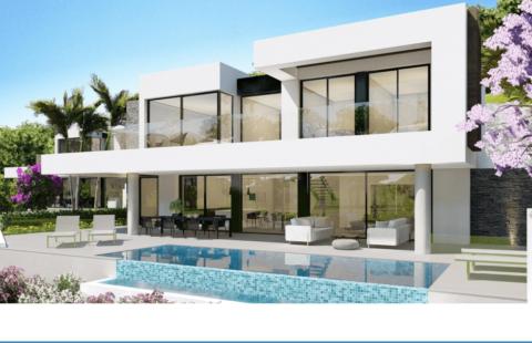 Banus Heights: 6 exclusieve luxe villas met zeezicht in een gated community in de golfvallei van los Arqueros (Benahavis)