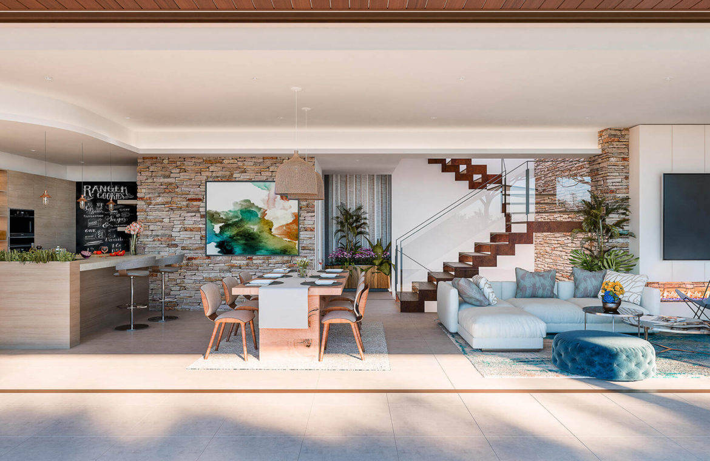 be lagom moderne villa kopen marbella benahavis zeezicht nieuwbouw living