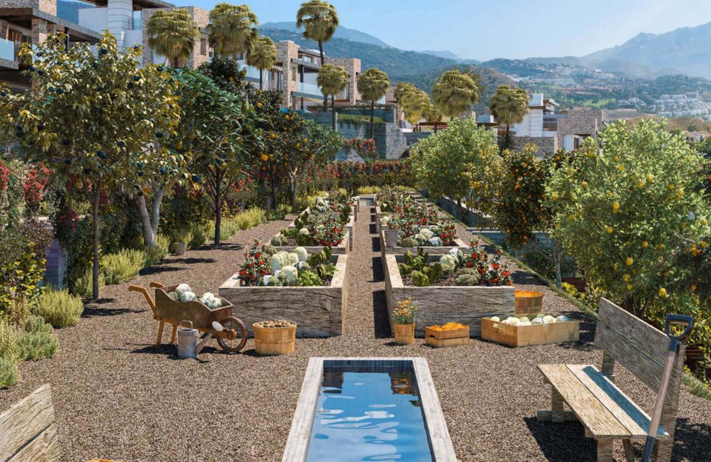 be lagom moderne villa kopen marbella benahavis zeezicht nieuwbouw tuin