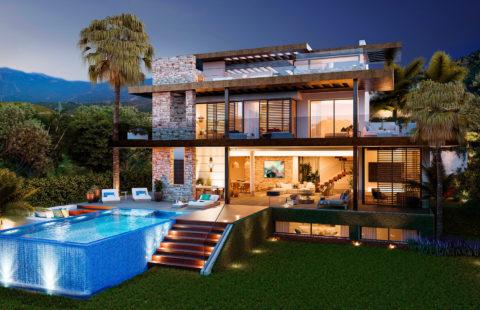 Be Lagom - 13 moderne luxe villa's met prachtig zeezicht in Benahavis