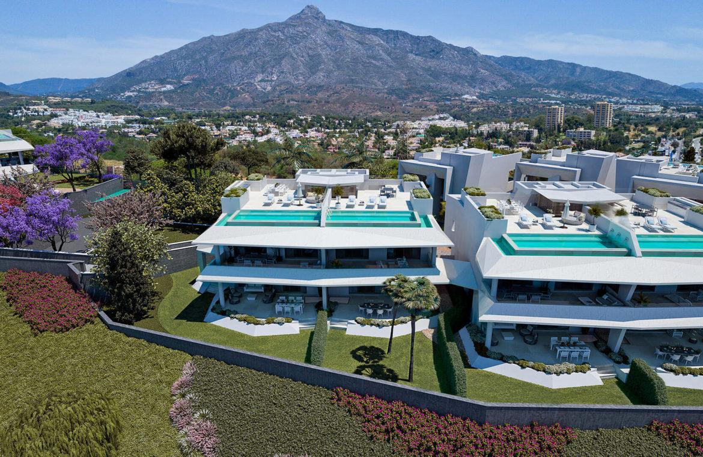 celeste marbella nueva andalucia costa del sol spanje nieuwbouw te koop appartement penthouse puerto banus wandelafstand huis