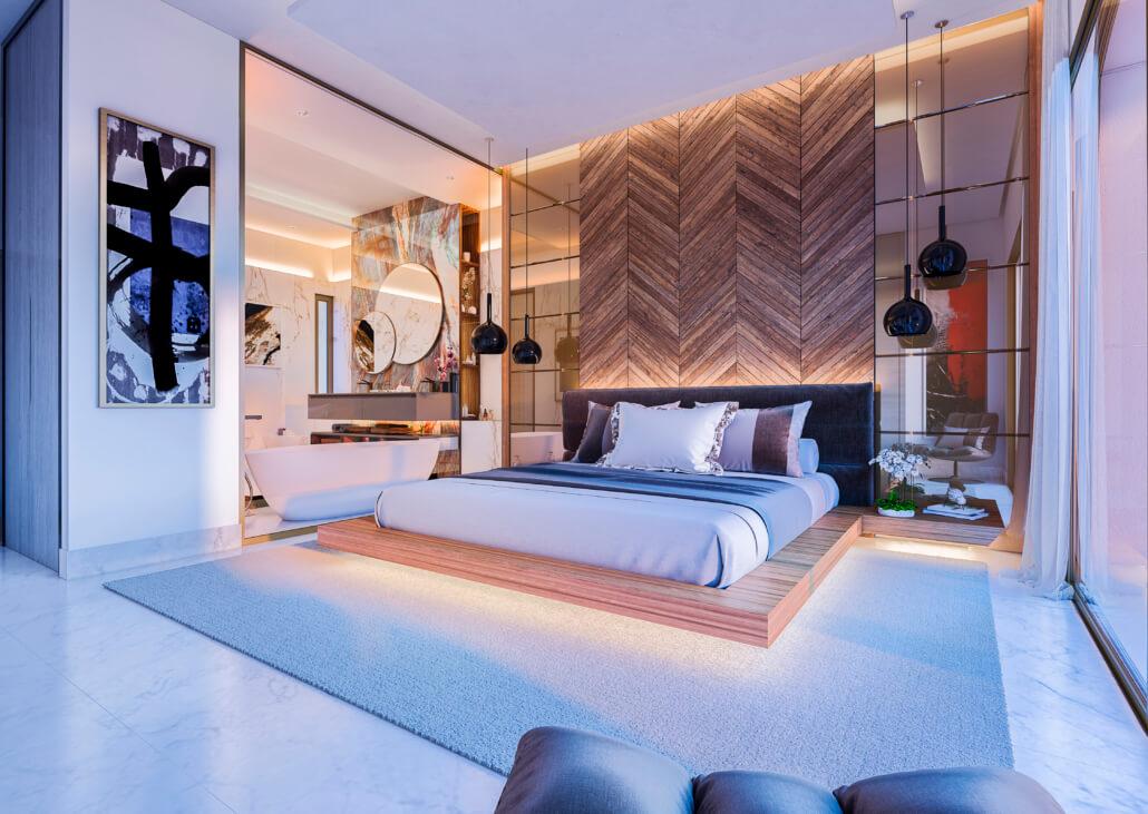 celeste marbella nueva andalucia costa del sol spanje nieuwbouw te koop appartement penthouse puerto banus wandelafstand villa master slaapkamer
