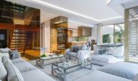 celeste marbella nueva andalucia costa del sol spanje nieuwbouw te koop appartement penthouse puerto banus wandelafstand villa salon