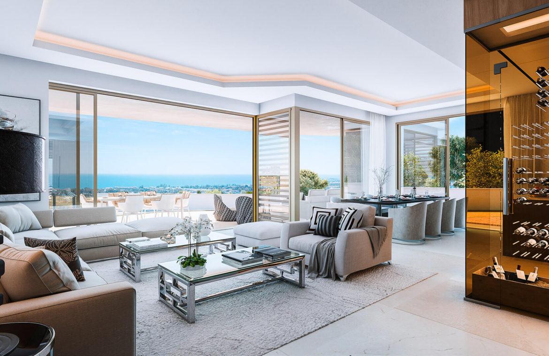 celeste marbella nueva andalucia costa del sol spanje nieuwbouw te koop appartement penthouse puerto banus wandelafstand zeezicht