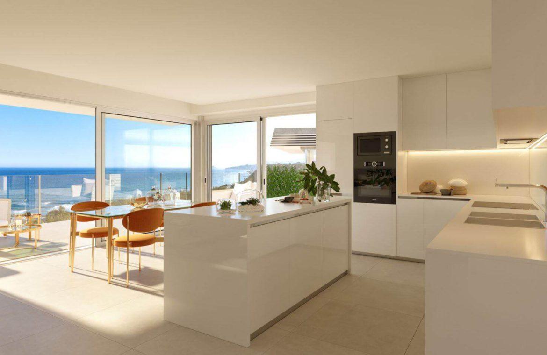 eden mijas te koop townhouses zeezicht wandelafstand strand keuken