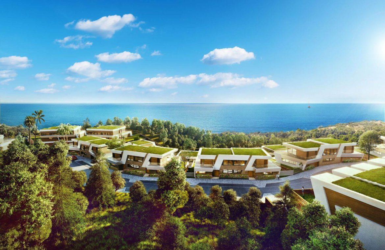 eden mijas te koop townhouses zeezicht wandelafstand strand overzicht