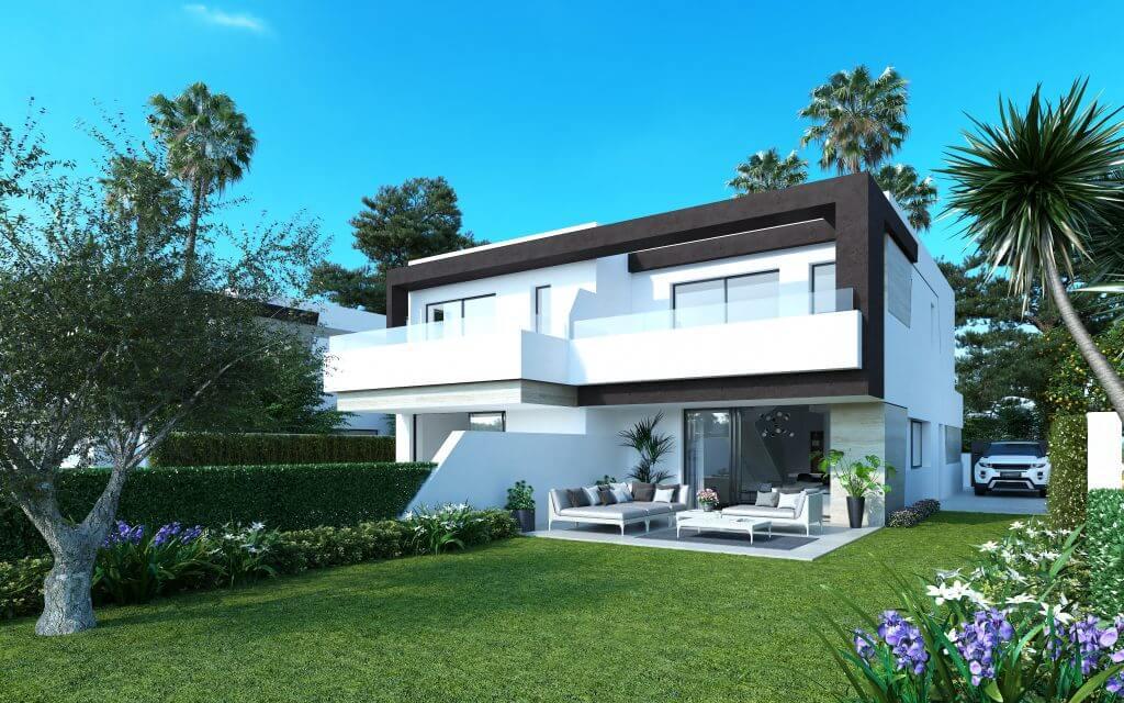 oasis 22 new golden mile marbella estepona costa del sol huis te koop nieuwbouw tuin