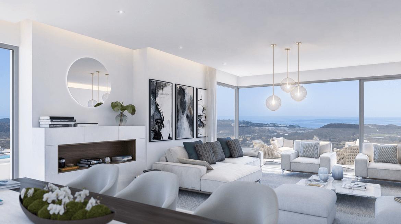 one residences te koop zeezicht moderne neiwubouw la cals de mijas leefruimte