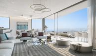 one residences te koop zeezicht moderne neiwubouw la cals de mijas living