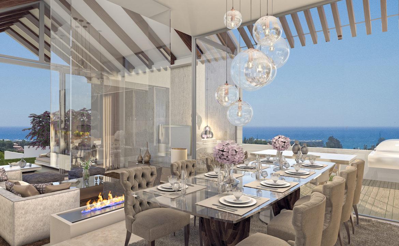 resina heights villa zeezicht golf estepona new golden mile eethoek