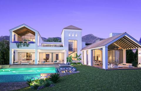 Resina Heights - moderne villa's met zeezicht aan de golfbaan in Estepona
