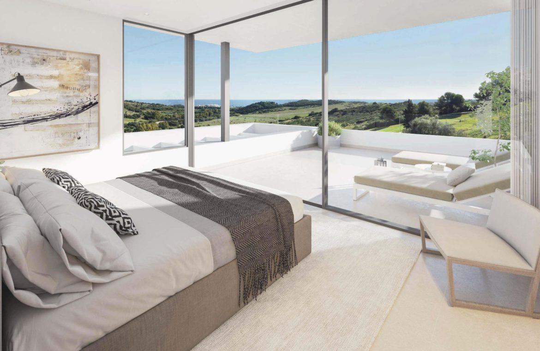 takara moderne villa te koop estepona golf zeezicht slaapkamer