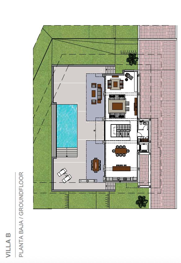 costa del sol marbella estepona nieuwbouw modern grondplan villa B