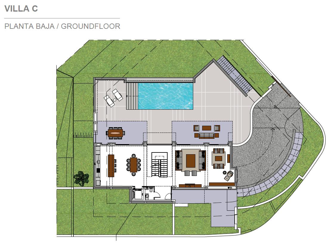costa del sol marbella estepona nieuwbouw modern grondplan villa C