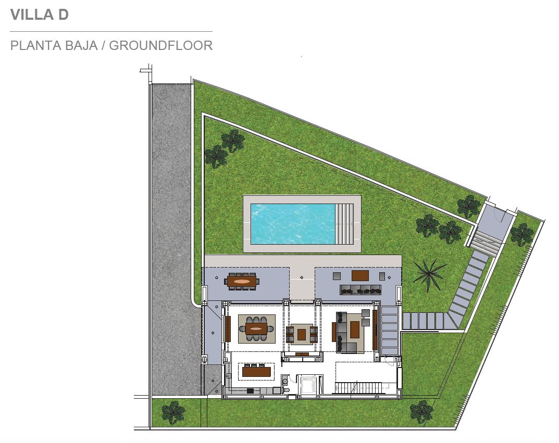 costa del sol marbella estepona nieuwbouw modern grondplan villa D
