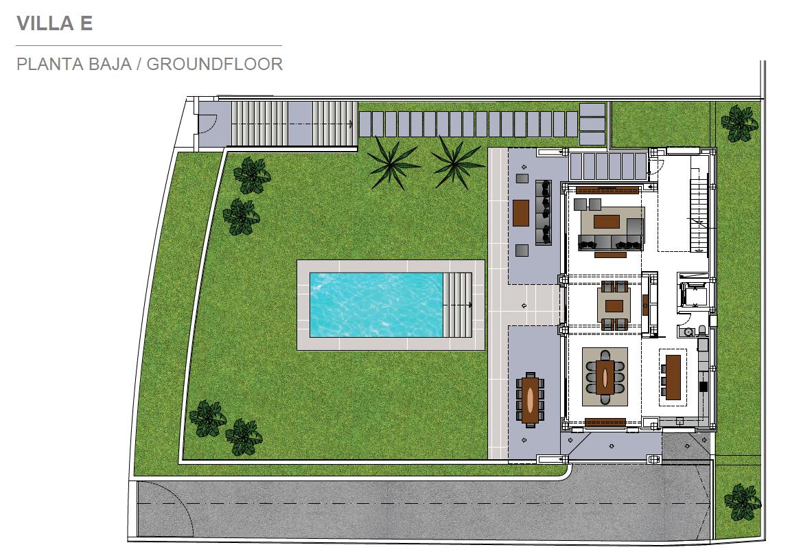 costa del sol marbella estepona nieuwbouw modern grondplan villa E