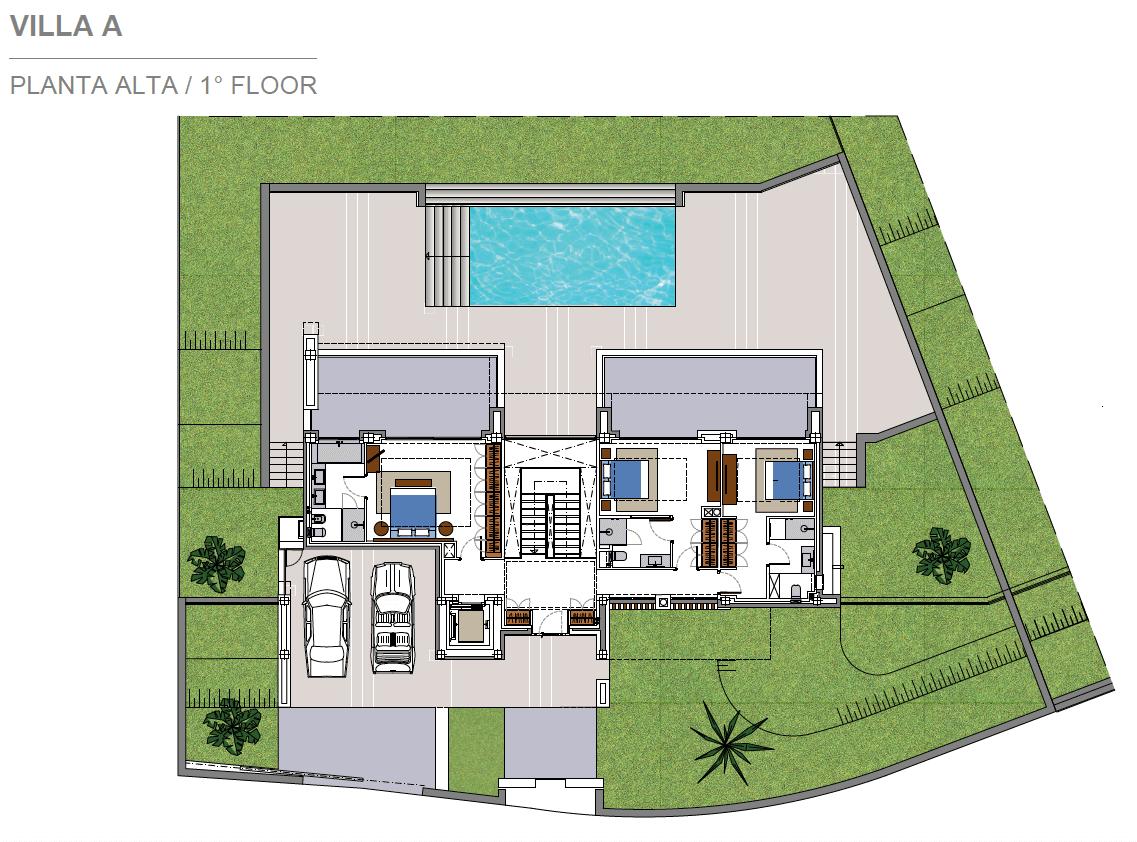 costa del sol marbella estepona nieuwbouw modern plan villa A