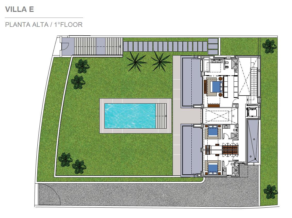 costa del sol marbella estepona nieuwbouw modern plan villa E