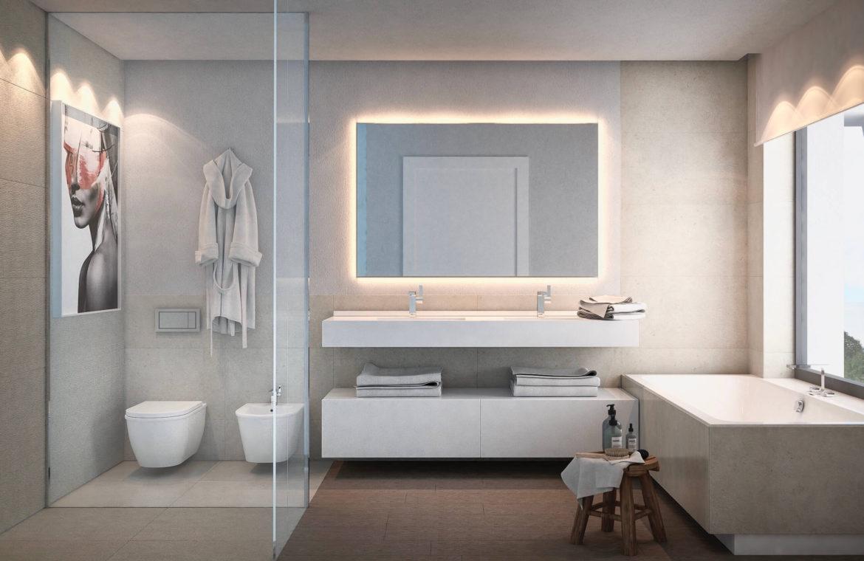 light blue villa kopen costa del sol marbella estepona nieuwbouw modern badkamer