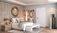 light blue villa kopen costa del sol marbella estepona nieuwbouw modern bed