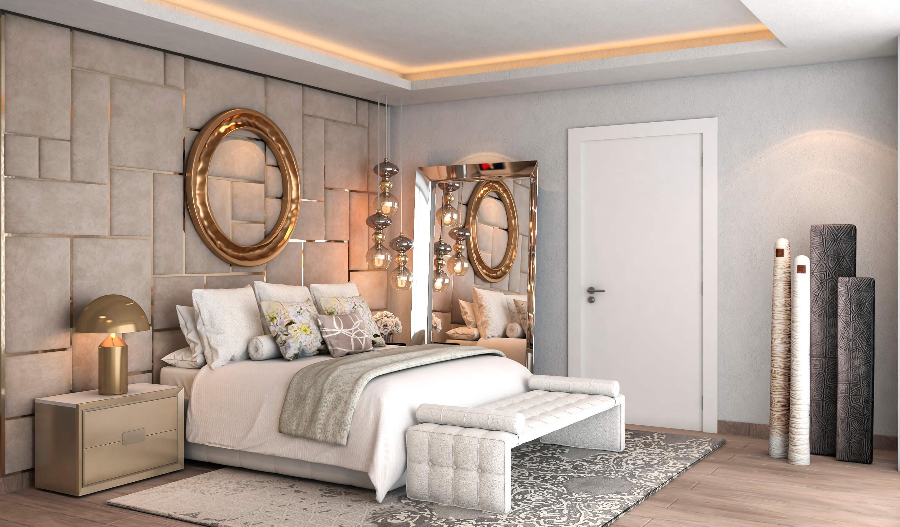 Modern Bed Kopen.Light Blue Kleinschalig Villa Project Op De New Golden Mile Estepona