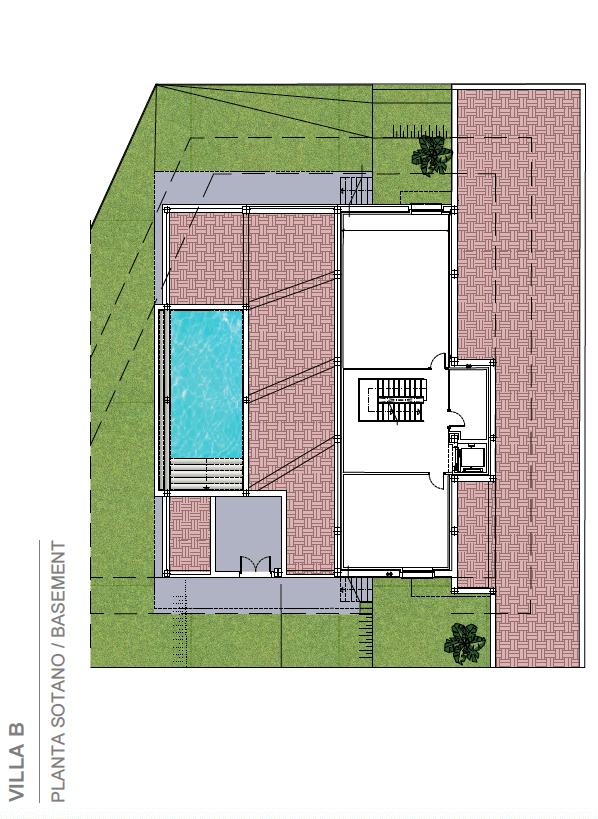light blue villa kopen costa del sol marbella estepona nieuwbouw modern grondplan villa B kelder