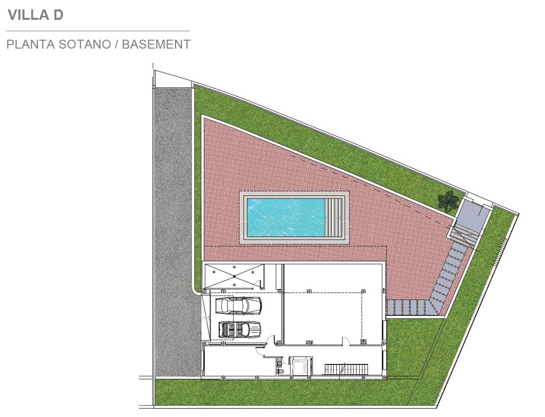 light blue villa kopen costa del sol marbella estepona nieuwbouw modern grondplan villa D kelder