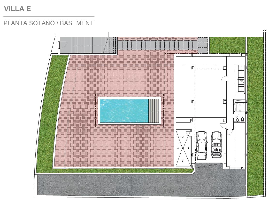 light blue villa kopen costa del sol marbella estepona nieuwbouw modern grondplan villa E kelder