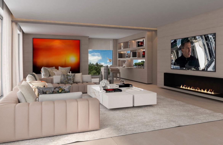 light blue villa kopen costa del sol marbella estepona nieuwbouw modern haard