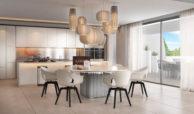 light blue villa kopen costa del sol marbella estepona nieuwbouw modern keuken