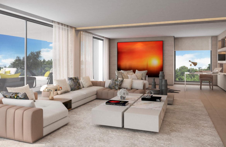 light blue villa kopen costa del sol marbella estepona nieuwbouw modern salon