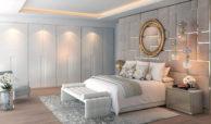 light blue villa kopen costa del sol marbella estepona nieuwbouw modern slaapkamer