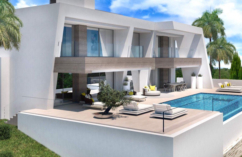 light blue villa kopen costa del sol marbella estepona nieuwbouw modern zwembad
