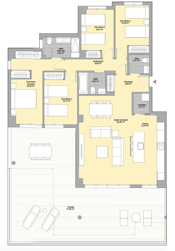 mesas homes prime invest estepona zeezicht nieuwbouw appartement te koop modern grondplan 4 slaapkamers