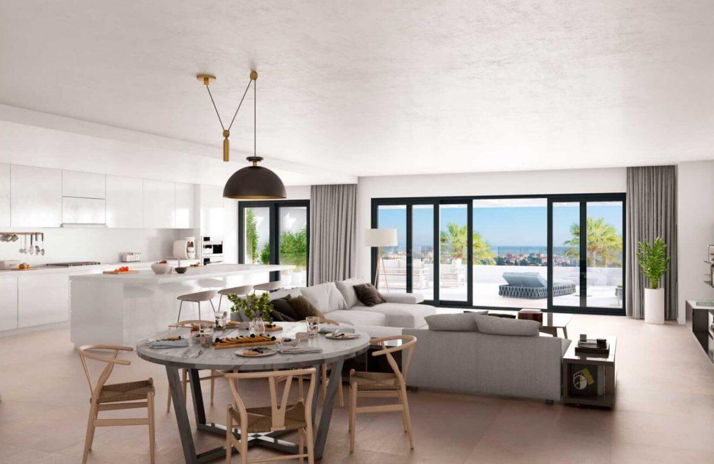mesas homes prime invest estepona zeezicht nieuwbouw appartement te koop modern keuken
