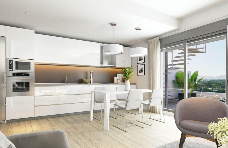 oceana gardens new golden mile estepona cancelada nieuwbouw appartement te koop wandelafstand zeezicht golf goedkoop keuken