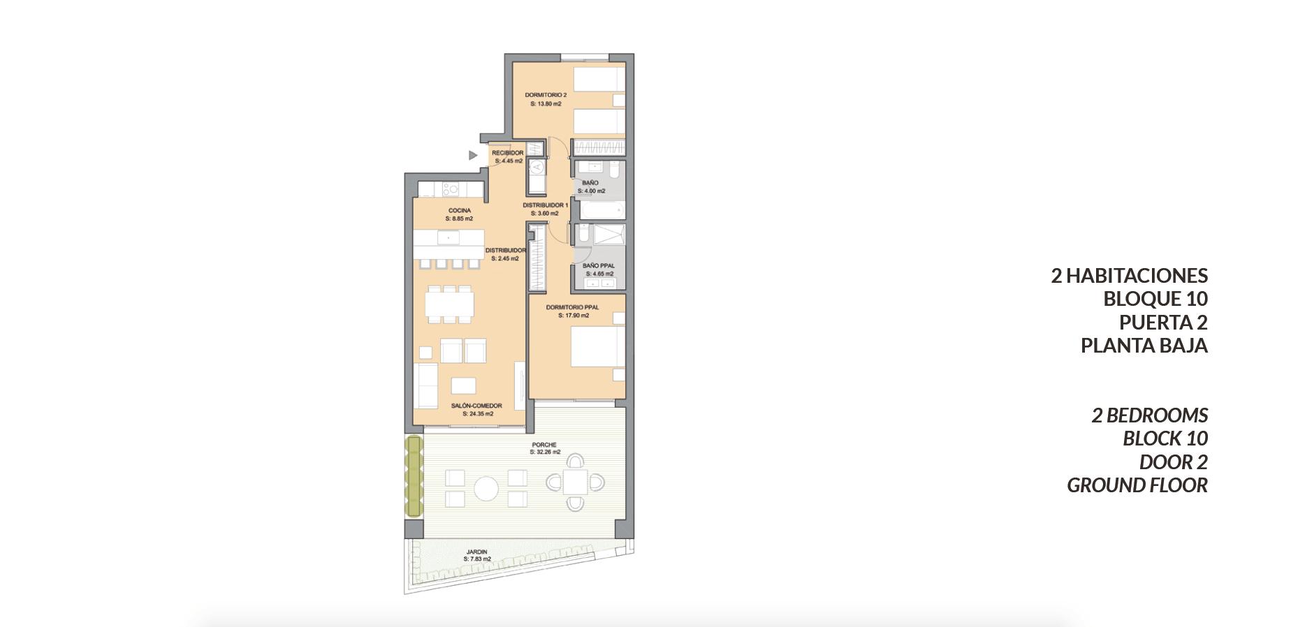 artola homes cabopino costa del sol eerstelijns golf appartement penthouse te koop nieuwbouw zee grondplan twee bed