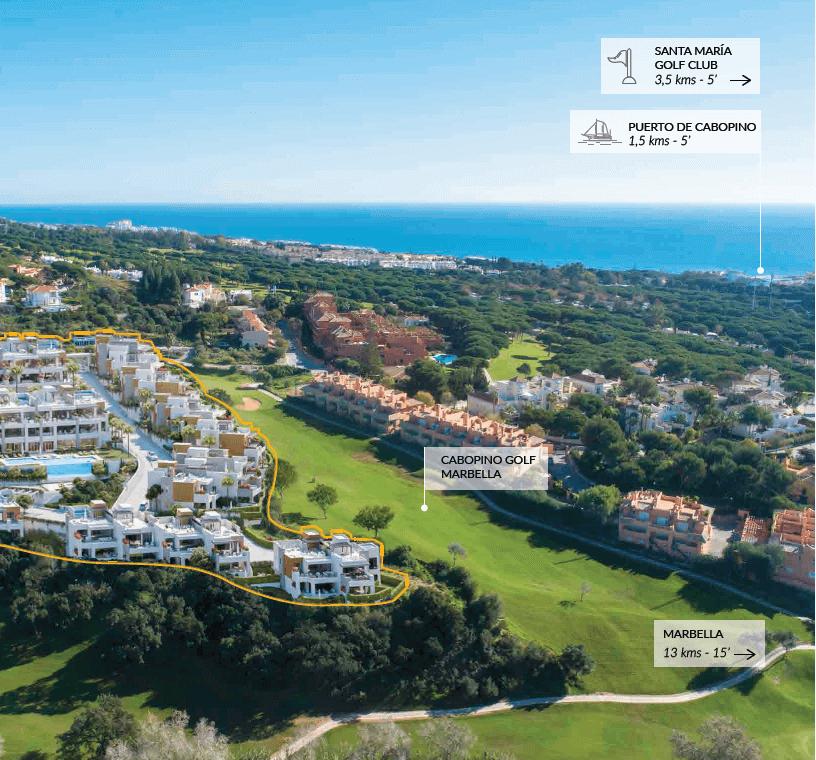 artola homes cabopino costa del sol eerstelijns golf appartement penthouse te koop nieuwbouw zee ligging