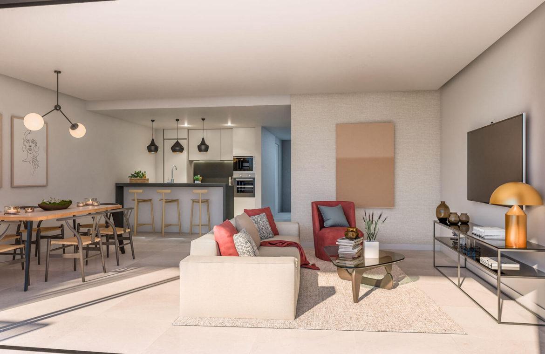 artola homes cabopino costa del sol eerstelijns golf appartement penthouse te koop nieuwbouw zee salon